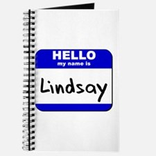 hello my name is lindsay Journal