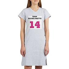 Team Bachelorette Pink 14 Women's Nightshirt