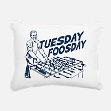 Tuesday Foosday Rectangular Canvas Pillow