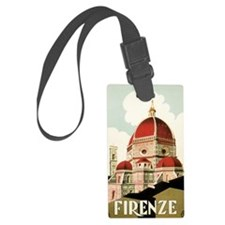 Vintage Firenze Italy Church Duo Luggage Tag