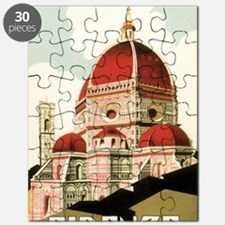 Vintage Firenze Italy Church Duomo Puzzle