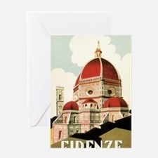 Vintage Firenze Italy Church Duomo Greeting Card