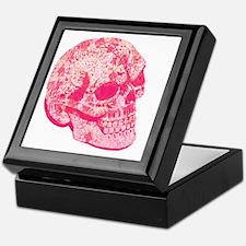 pink girly sugar skull Keepsake Box