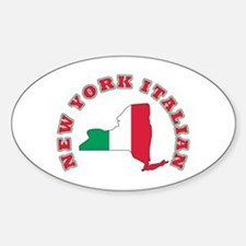 New York Italian Oval Decal