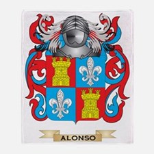 Alonso Coat of Arms Throw Blanket