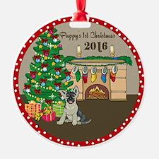 2016 German Shepherds 1St Christmas Ornament