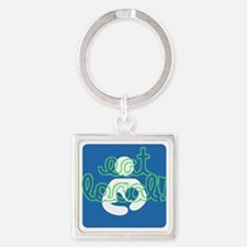 Eat local! Square Keychain