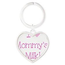I love mommys milk!-pink Heart Keychain