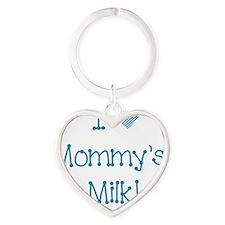 I love mommys milk!-blue Heart Keychain