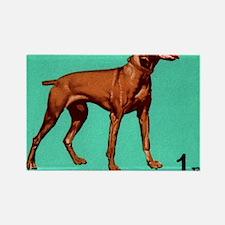1967 Hungary Vizsla Dog Postage S Rectangle Magnet