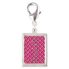 Pink Diamond Plate Charms