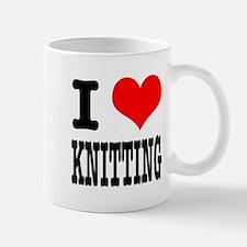 I Heart (Love) Knitting Mug