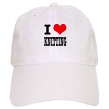 I Heart (Love) Knitting Baseball Cap