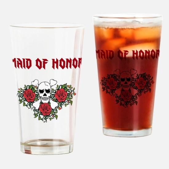 Maid of Honor Skulls Drinking Glass