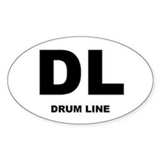 Drum Line Oval Decal