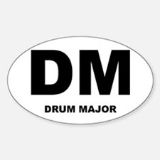 Drum Major Oval Decal