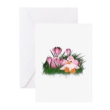 LITTLE PINK DUCK Greeting Cards (Pk of 10)