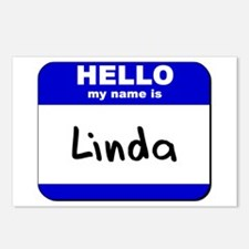 hello my name is linda  Postcards (Package of 8)