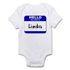 hello my name is linda  Infant Bodysuit