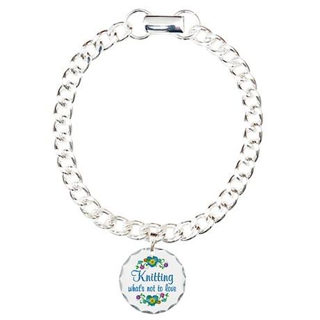 Knitting to Love Charm Bracelet, One Charm