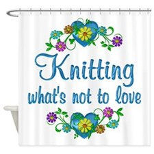 Knitting to Love Shower Curtain