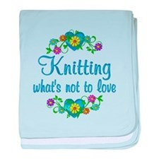 Knitting to Love baby blanket