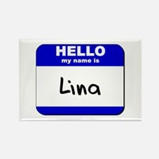 hello my name is lina Rectangle Magnet