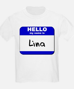 hello my name is lina T-Shirt