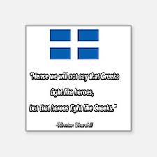 """WW2 Churchill quote Square Sticker 3"""" x 3"""""""