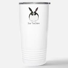 Dutch Rabbit. Custom Text. Travel Mug