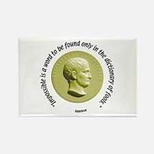 Napoleon quote Rectangle Magnet
