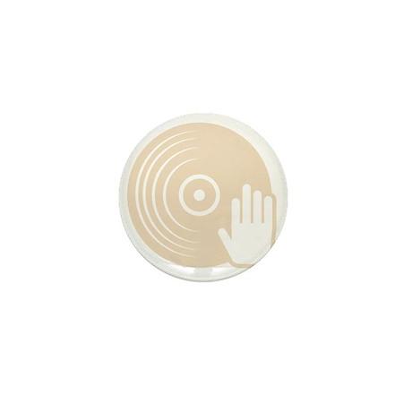 DJ Spinning Records - EDM Shirt Mini Button