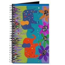 Colorful Elephants in Water Journal