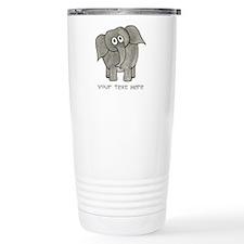 Elephant. Custom Text. Travel Mug