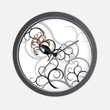 Cat and Bird all over tee Wall Clock
