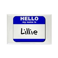 hello my name is lillie Rectangle Magnet