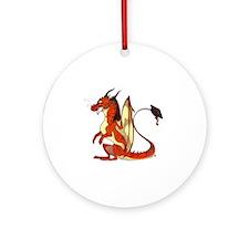 Daquan's Dragon Round Ornament