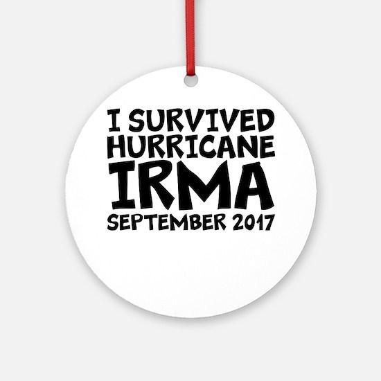 I Survived Hurricane Irma Round Ornament