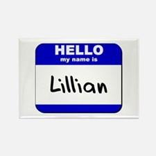 hello my name is lillian Rectangle Magnet