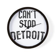Cant stop detroit  2800 x 2800 copy Wall Clock