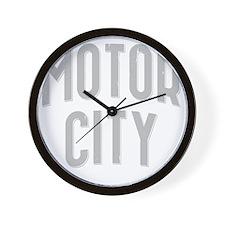 Motor City dark 2800 x 2800 copy Wall Clock