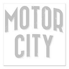 "Motor City dark 2800 x 2 Square Car Magnet 3"" x 3"""