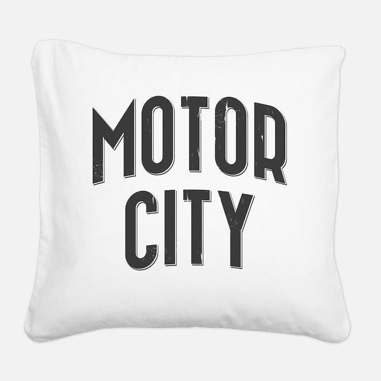 Motor City 2800 x 2800 copy Square Canvas Pillow