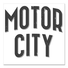 "Motor City 2800 x 2800 c Square Car Magnet 3"" x 3"""