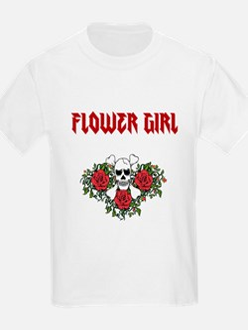 Flower Girl Skulls T-Shirt