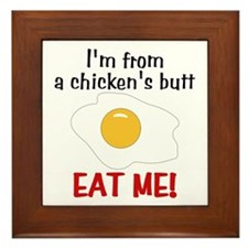 Chicken's Butt Framed Tile