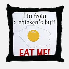 Chicken's Butt Throw Pillow