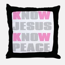 Know Jesus Know Peace Throw Pillow
