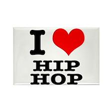 I Heart (Love) Hip Hop Rectangle Magnet