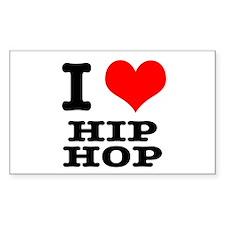 I Heart (Love) Hip Hop Rectangle Decal